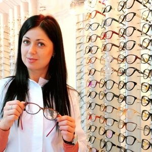 At the opticians