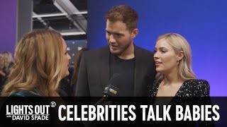 Getting Celebrity Baby Advice at the People's Choice Awards - Lights Out with David Spade